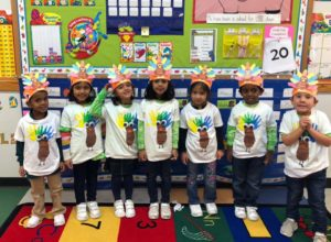 preschoolers at McGinnis Woods