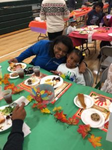 thanksgiving feast at our daycare childcare preschool