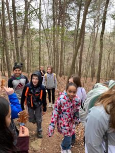 Students Hiking Natures Classroom Field Trip 4th Grade