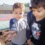 3 Year Old Preschoolers Planting on Earth Day