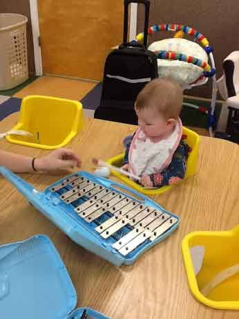 Musical fun in the Infant Childcare Preschool Class