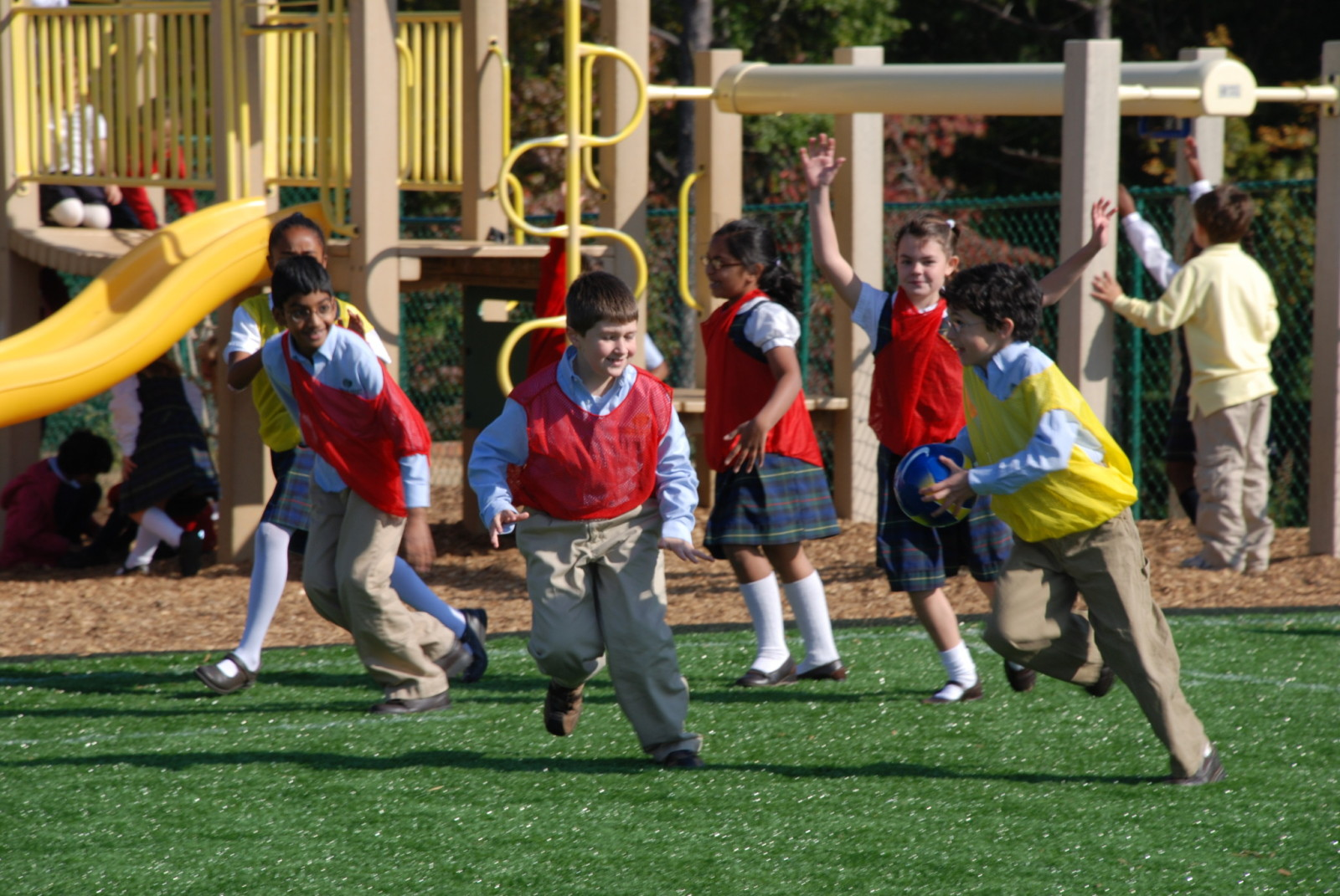 Students playing at McGinnis Woods Private School