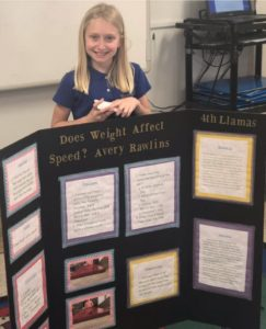 2019 Science Fair Elementary School Students
