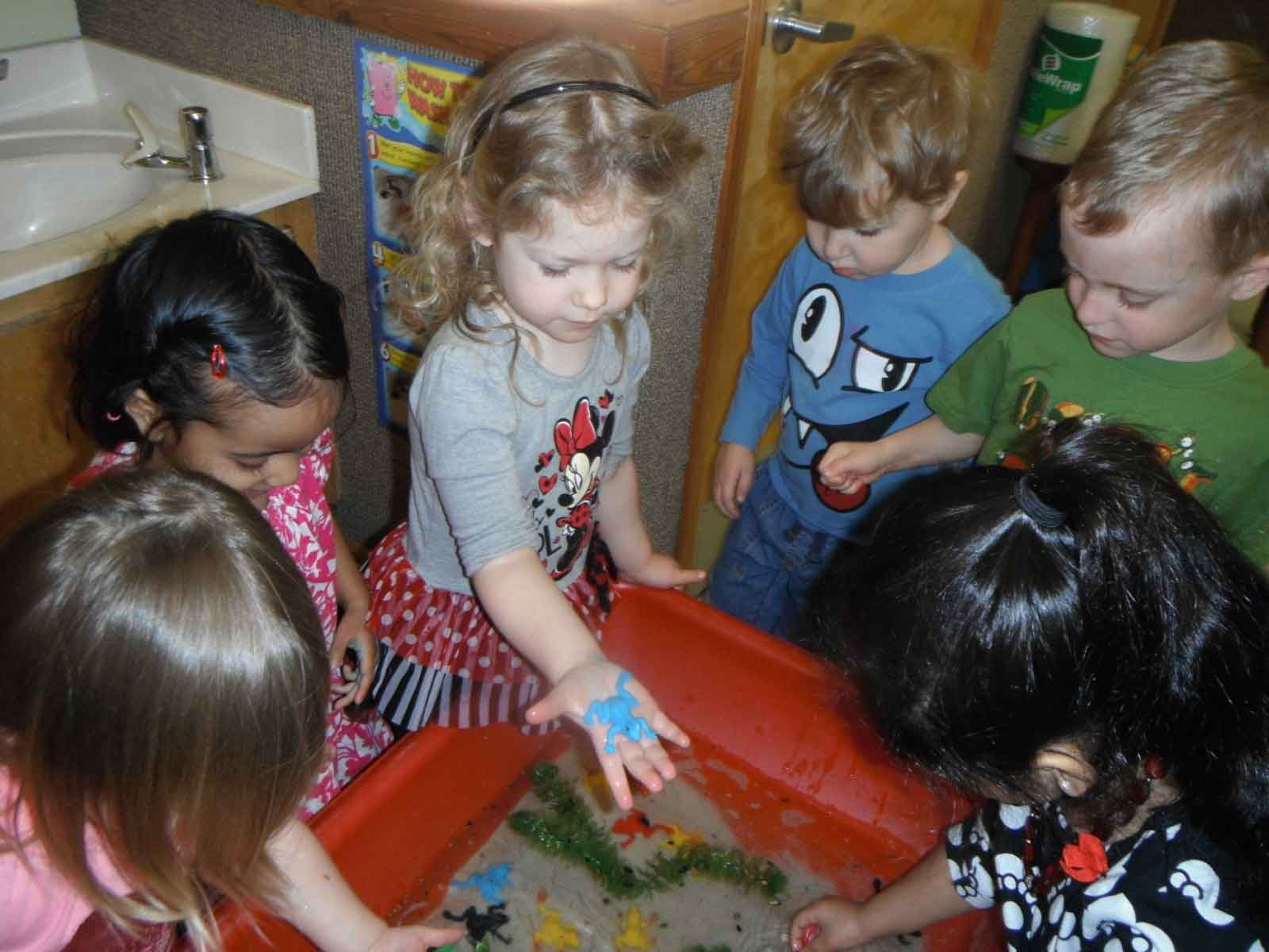 Kids Playing at Water Table at Preschool Near You for 3 Year Olds, 4 Y.O.'s