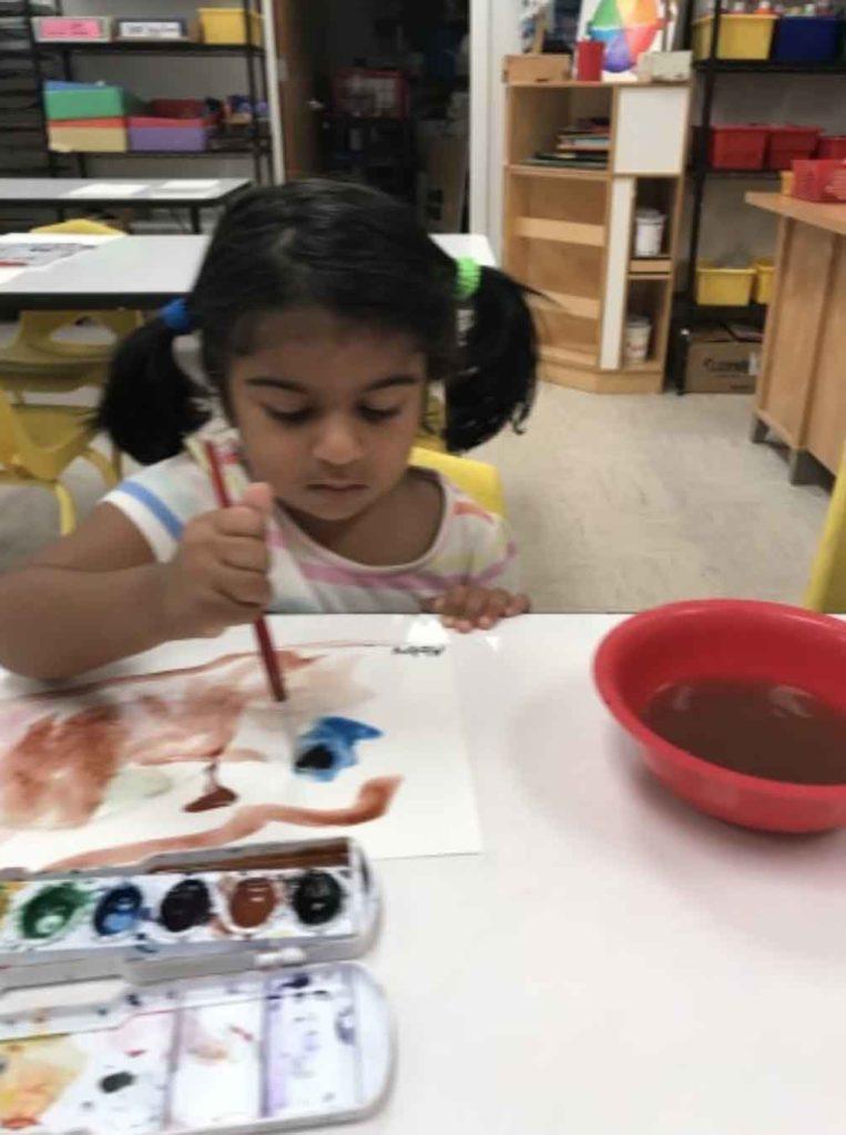 Alpharetta Preschool Student Painting