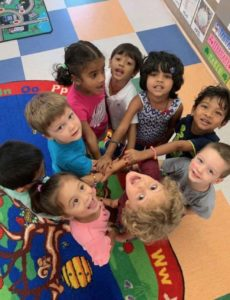 Johns Creek Preschool Students Playing in the Classroom