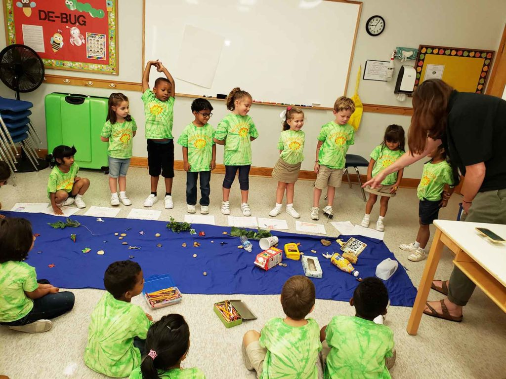 Kindergarteners learn about clean water Keep Forsyth Beautiful