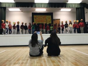 2nd graders sang Albuquerque Turkey and recited I ate too much