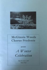 McGinnis Woods Private School Chorus Students Winter Celebration 2019