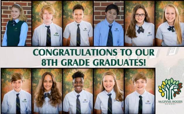 8th Grade Alpharetta Private School Graduates