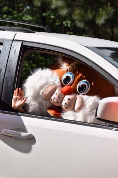 Happy Birthday Parade Mascot Social Distancing