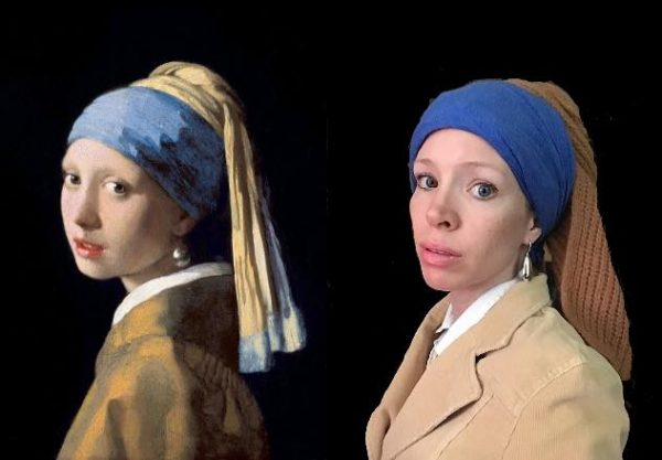 Pearl Earring. This is how Ms. Tanya inspired the students.