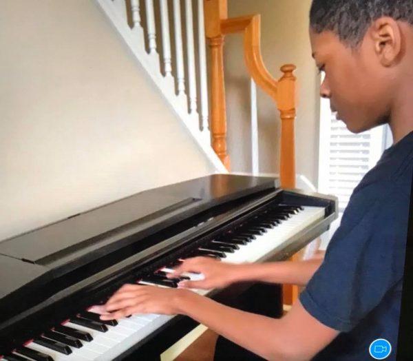 Playing Piano - Alpharetta Private School