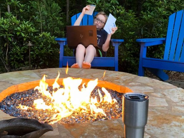 Virtual Campfire at McGinnis Woods in Alpharetta GA