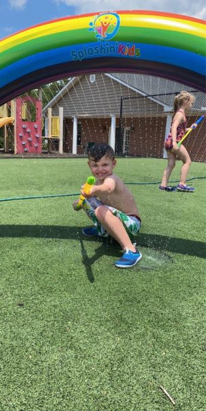 Outdoor Water Play at Summer Camp
