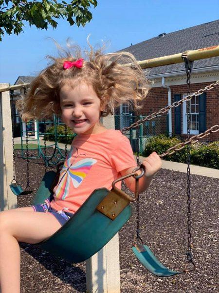 Swinging at Summer Camp
