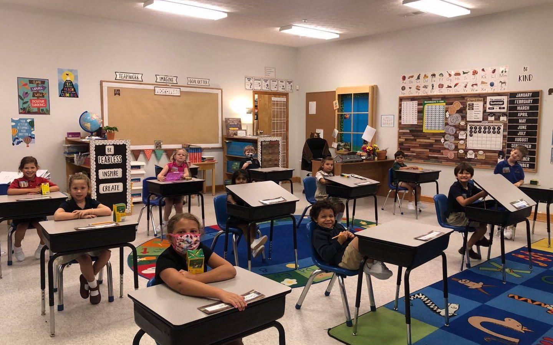 Social Distancing Classroom Private School Forsyth County GA