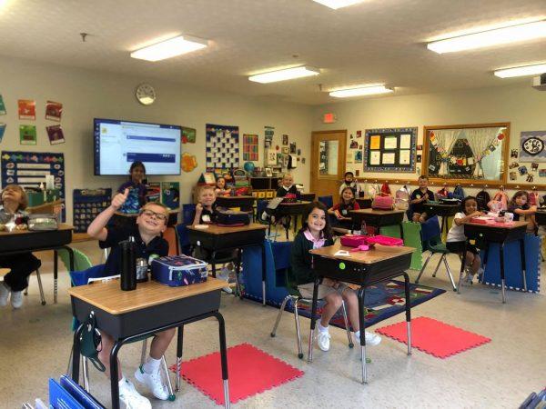 Social Distancing Classroom in Alpharetta Private School