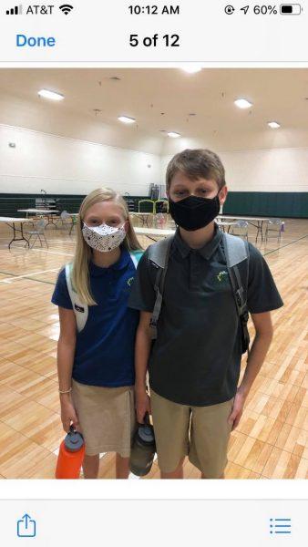 Wearing Masks Back to School in Alpharetta