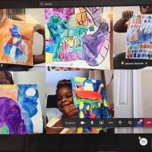 Art with Ms. Tanya is always an adventure! Students have been learning about Abstract Art and artists like Kandinsky and Pollock. They have also started working with clay, paint, and pastels.